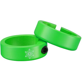 Supacaz Star Ringz Clamping Rings neon green matte powder-coated